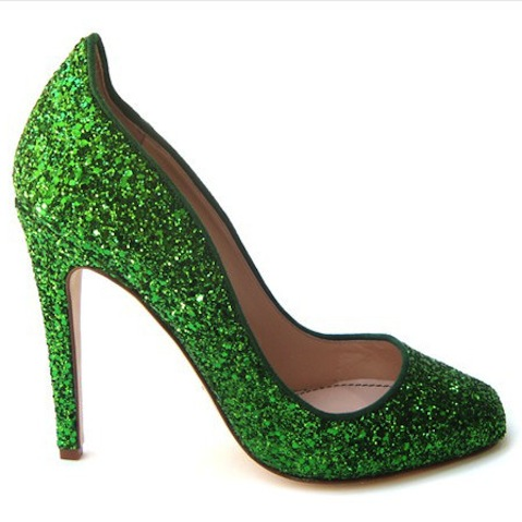 Jerome C. Rousseau green pumps