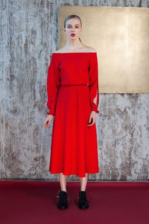 Kalmanovich red dress