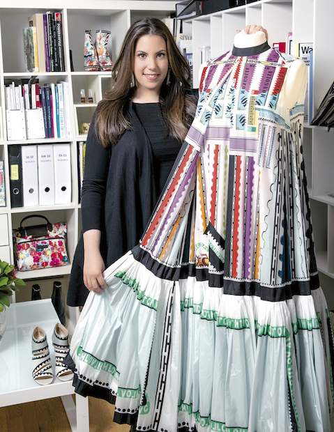 Mary Katrantzou in her studio