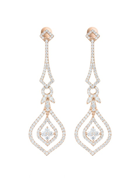 Sonnet Rose earrings by 77 Diamonds