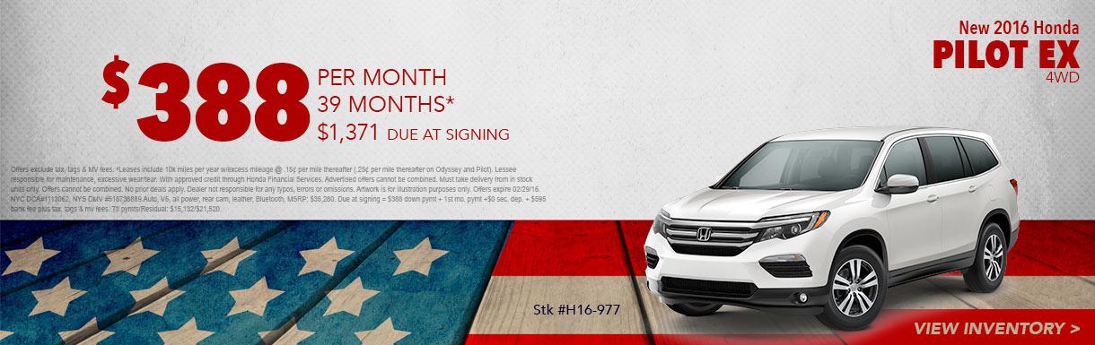 New car specials for Honda service center bronx