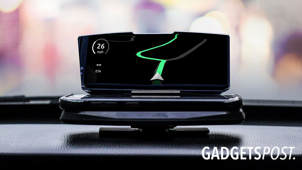 Turn Your Smartphone Into A Navi-Driving Display!