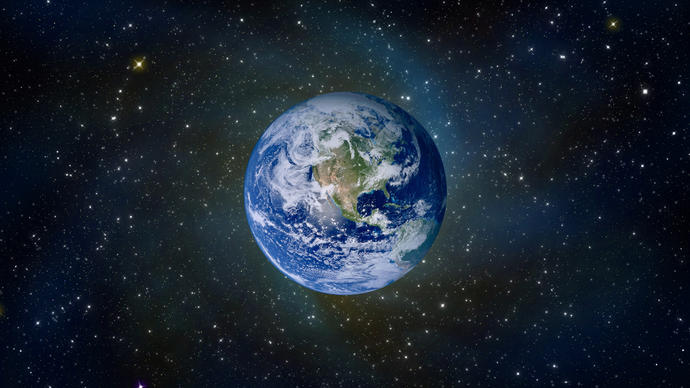 Describe planet Earth in one word?