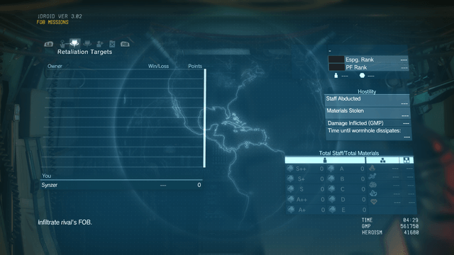 metal gear solid 5 fob missions
