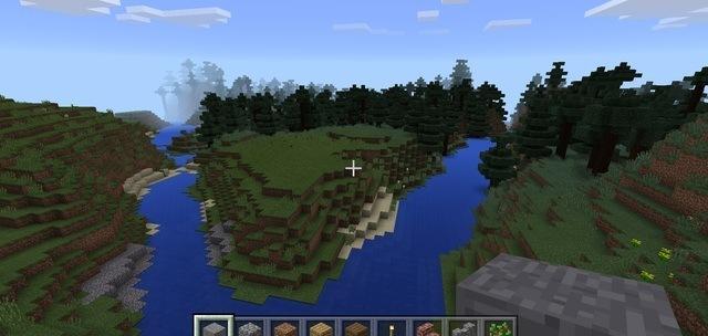 Minecraft river ravine