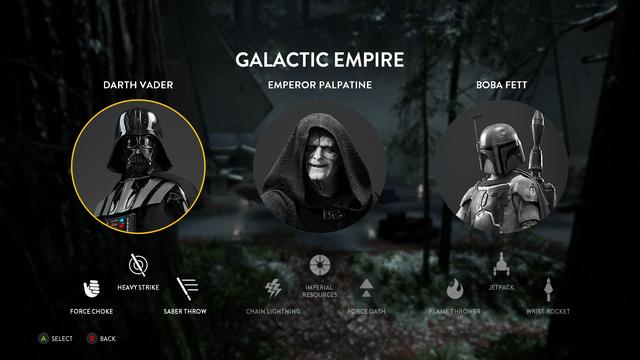Star Wars Battlefront Darth Vader Villain