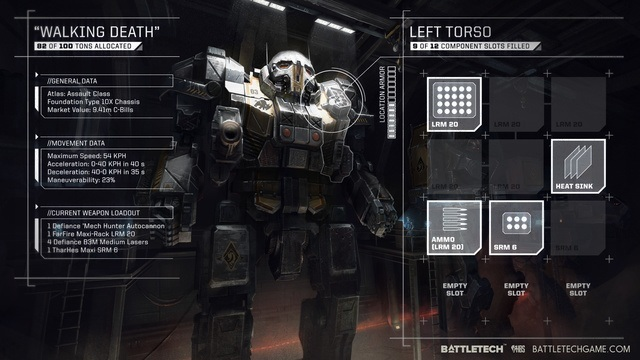 Battletech Walking Death Mech Harebrained Schemes