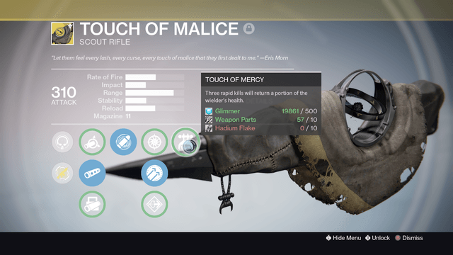 destiny touch of malice
