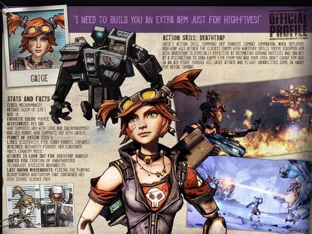 Aurelia hammerlock may be the best character in borderlands the pre