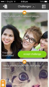 Screenshot of first week's challenges