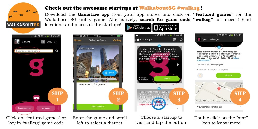 A promotional guide to downloading the app.