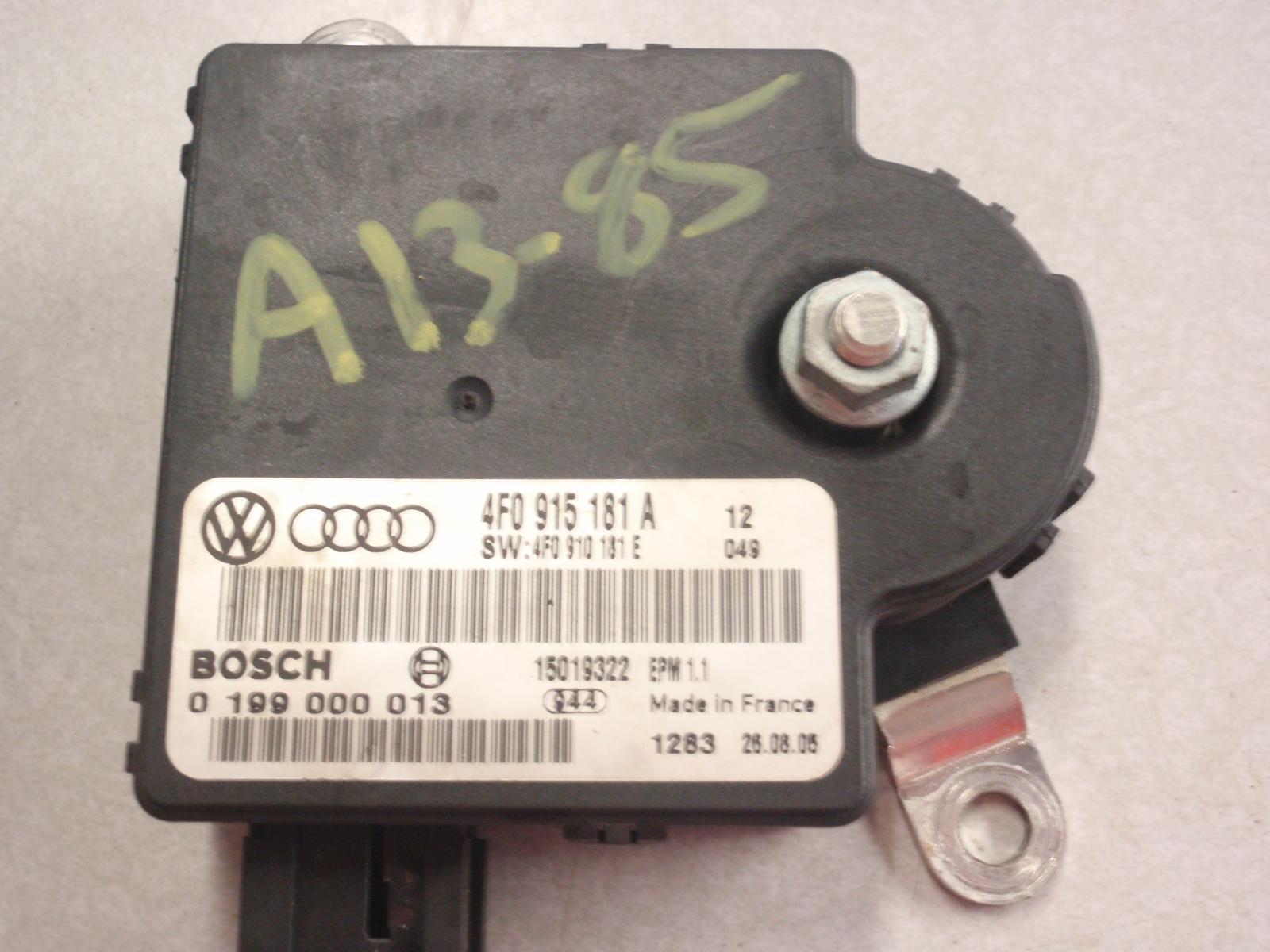 Battery Control Module : Audi a battery control module id f ebay