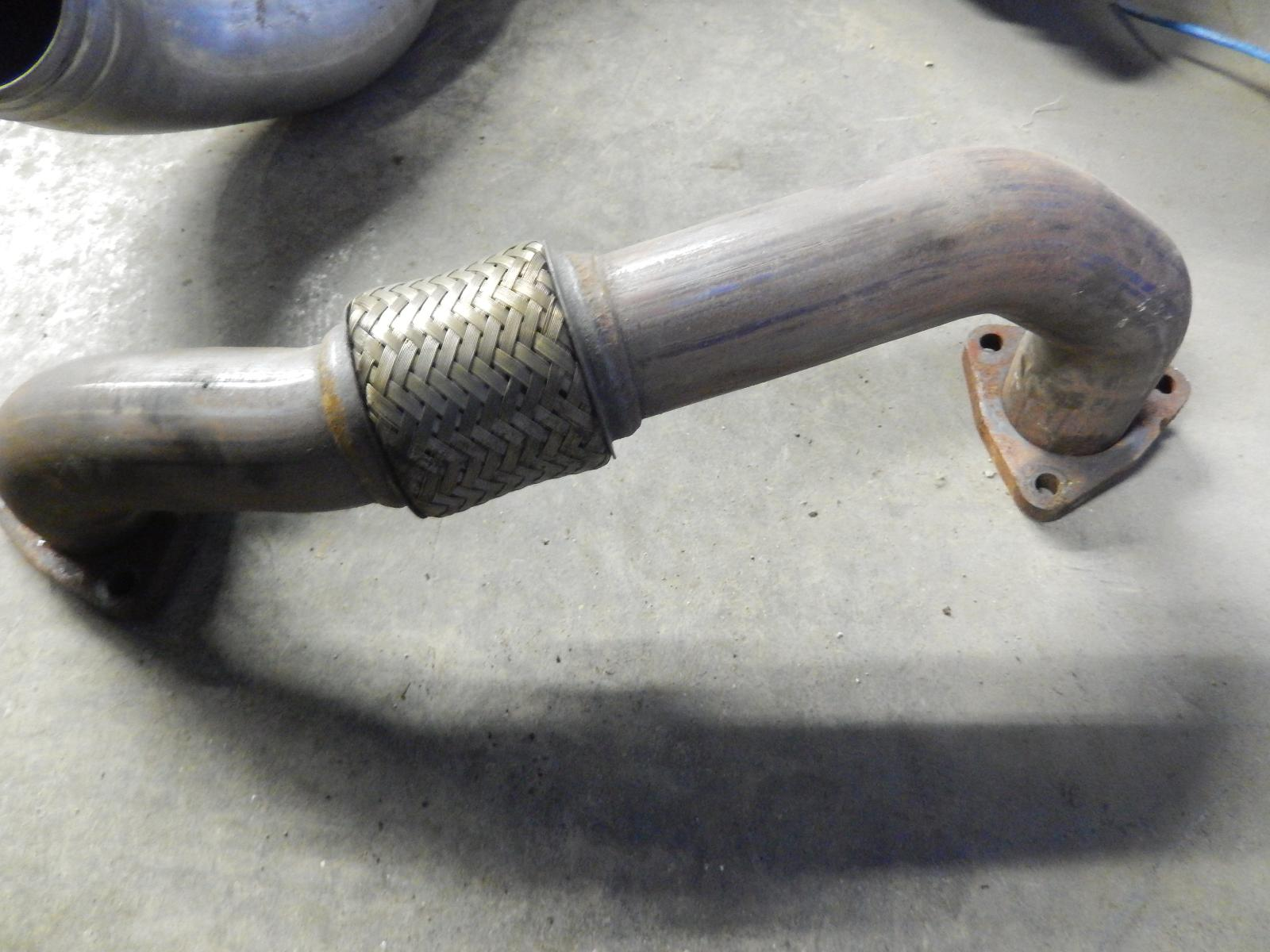 High Pressure Muffler : Ford f left turbo exhaust down pipe side high