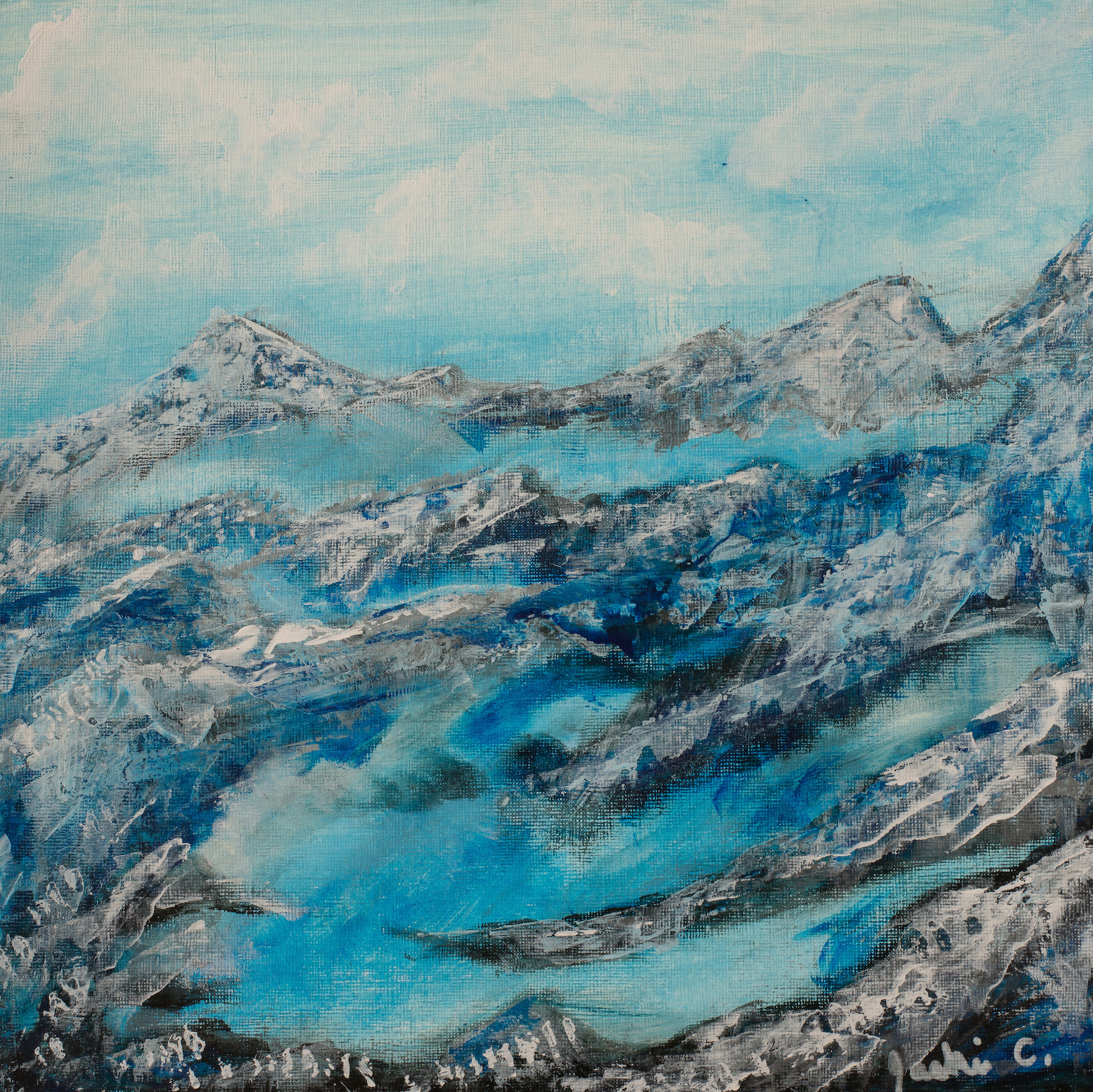 mountain landscape art on canvas