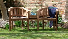 Garden Benches Couples Banana Bench