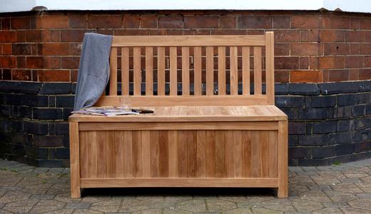 Teak Storage Bench 120cm Windsor Teak Garden Storage Bench 120cm