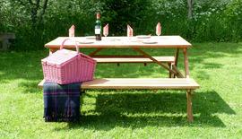 Garden Benches Picnic Teak Bench Side