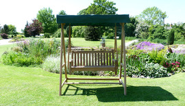 Garden Benches Windsor Swing Seat Front Down Shot