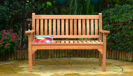 Flat Arm Westminster 120 Garden Bench Front