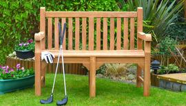 Garden Benches Balmoral 120 Memorial bench front