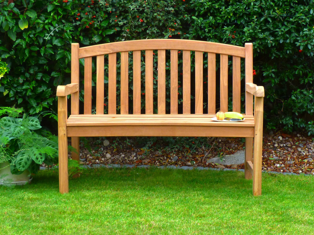 Garden Bench Sale Single Oval Back Teak Garden Bench 120cm