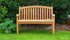 oval garden bench 120 front