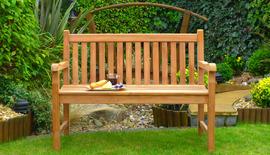 classic garden bench 120 front