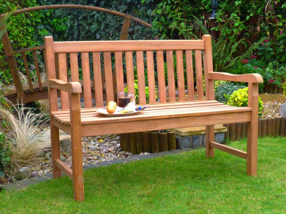 Classic Teak Bench 120cm  Windsor Teak Garden Bench 120 cm