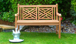 cross weave 120 garden bench front