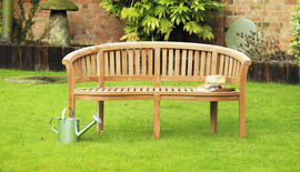 Garden Benches Banana Bench Front