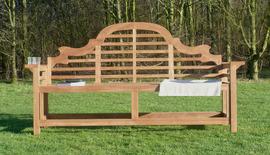 Lutyens Flat Armed Teak Garden Bench 180cm