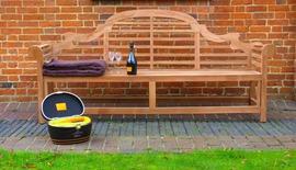 Lutyens 210cm Garden Bench