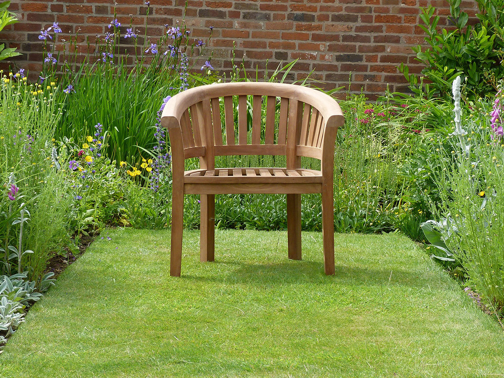Banana Halfmoon Teak Garden Chair Teak Halfmoon Banana Chair