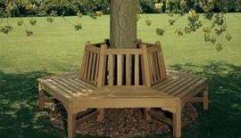 hexagonal tree bench