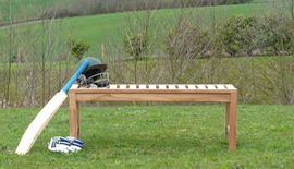 Sailsbury Backless Teak Garden Bench 120cm
