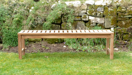 Salisbury Backless Teak Garden Bench 150 Cm