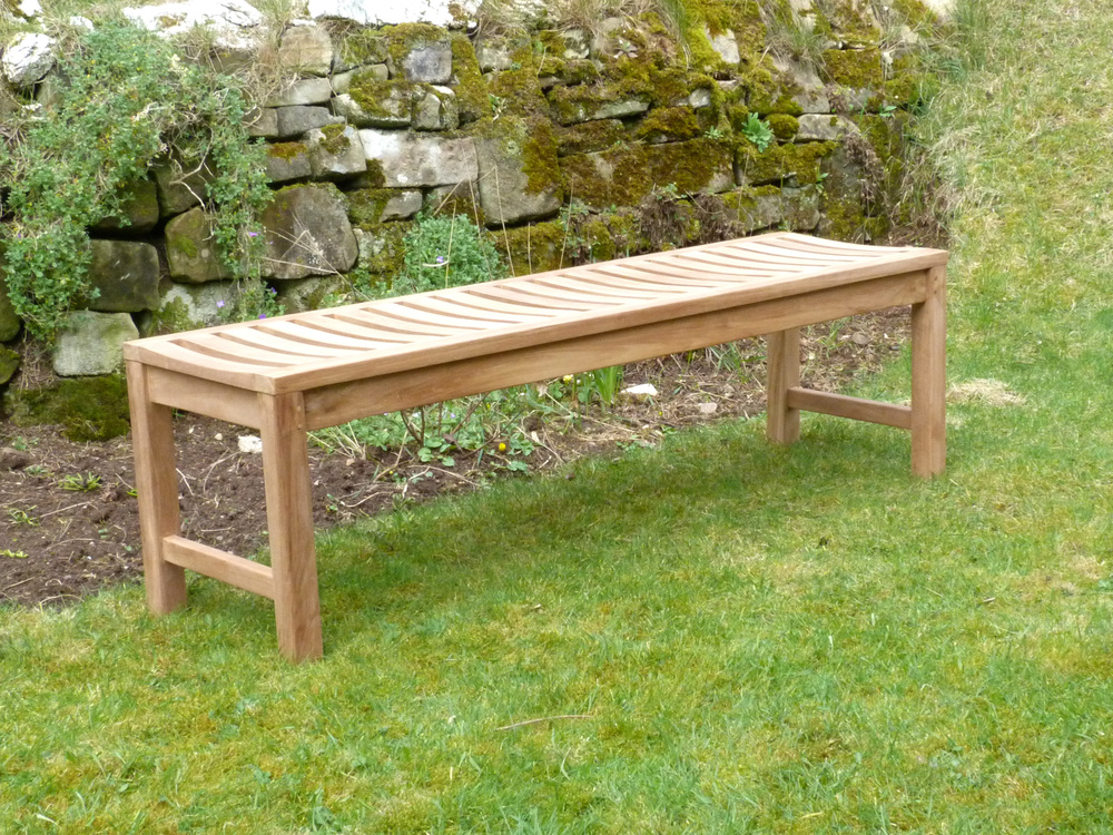 Salisbury Backless Teak Bench 150cm Backless Bench 150cm