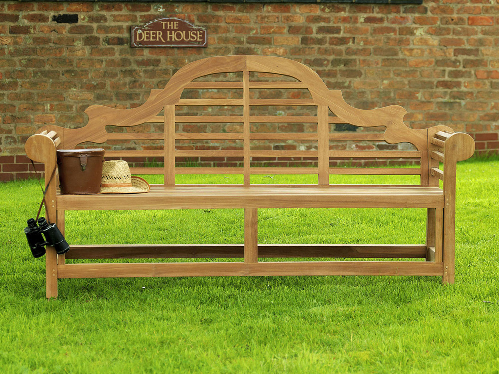 Lutyens Teak Garden Bench 180cm Teak Marlborough Bench 18m