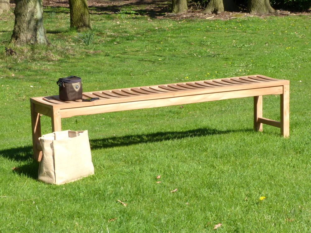salisbury backless teak garden bench 180 cm - Teak Bench