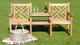 Oxford Cross Weave Couples Bench