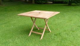folding square teak dining table