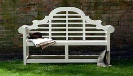 Garden Benches Painted Lutyens Cream