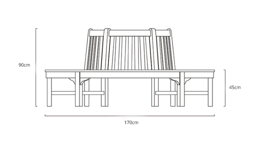 Tree-bench-dimensions