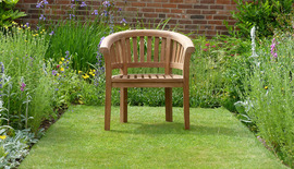 Garden Benches Banana Halfmoon Teak Chair