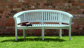 Garden Bench Painted Olive Teak Bench