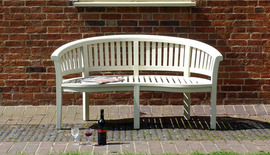 Garden Bench Banana Halfmoon Cream
