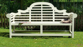 Garden Benches Lutyens Painted Cream