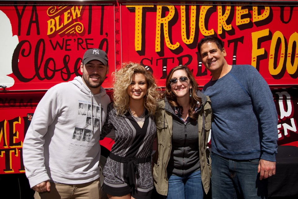 Justin Bieber's manager Scooter Braun, singer/songwriter Tori Kelly, IRL Productions' Emily Gannett and billionaire / Dallas Mavericks owner Mark Cuban at Conduit Corner @ SXSW 2013