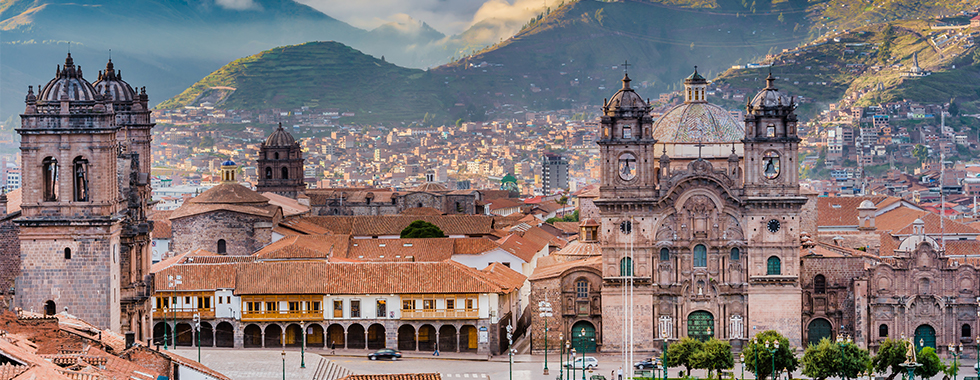 View of Cuzco in Peru