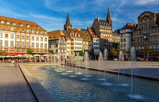 Place Kleber in Strasbourg, France